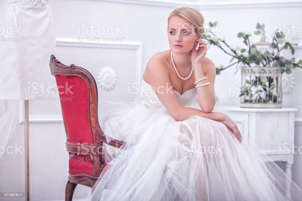 vintage wedding stock photo