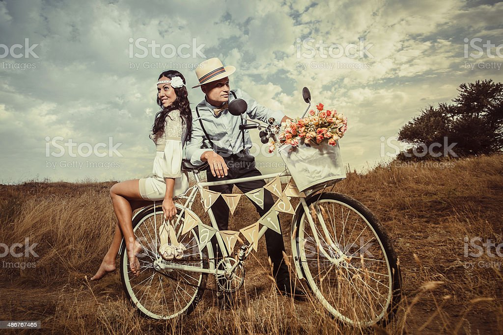 Vintage wedding. stock photo