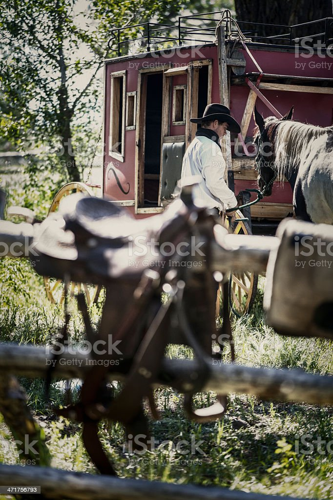 Vintage Western Scene royalty-free stock photo