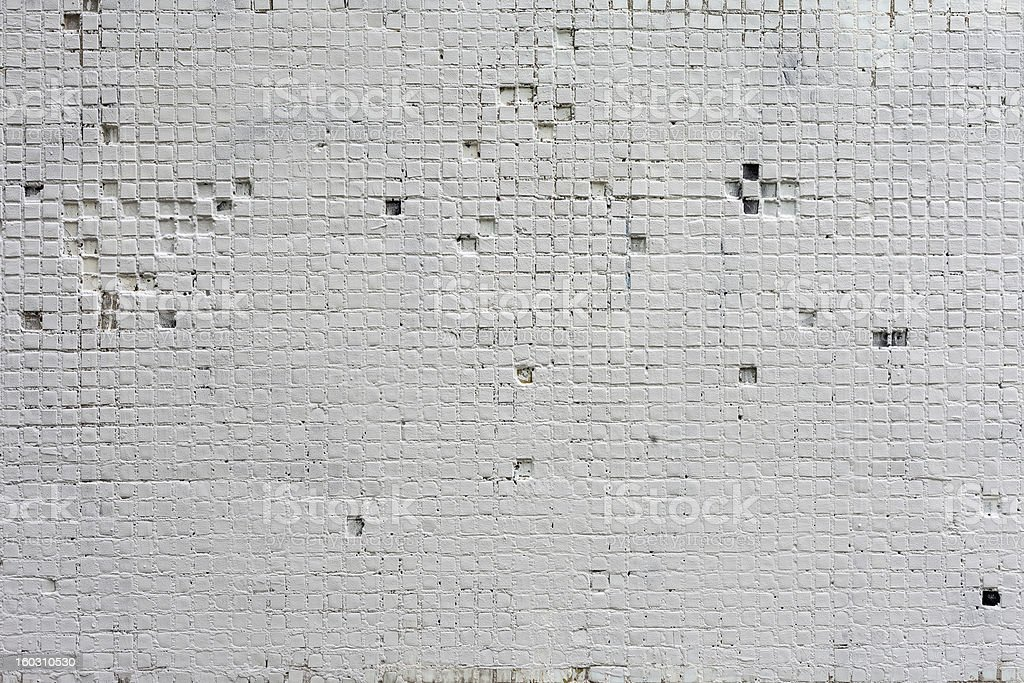 Vintage white background brickwall royalty-free stock photo