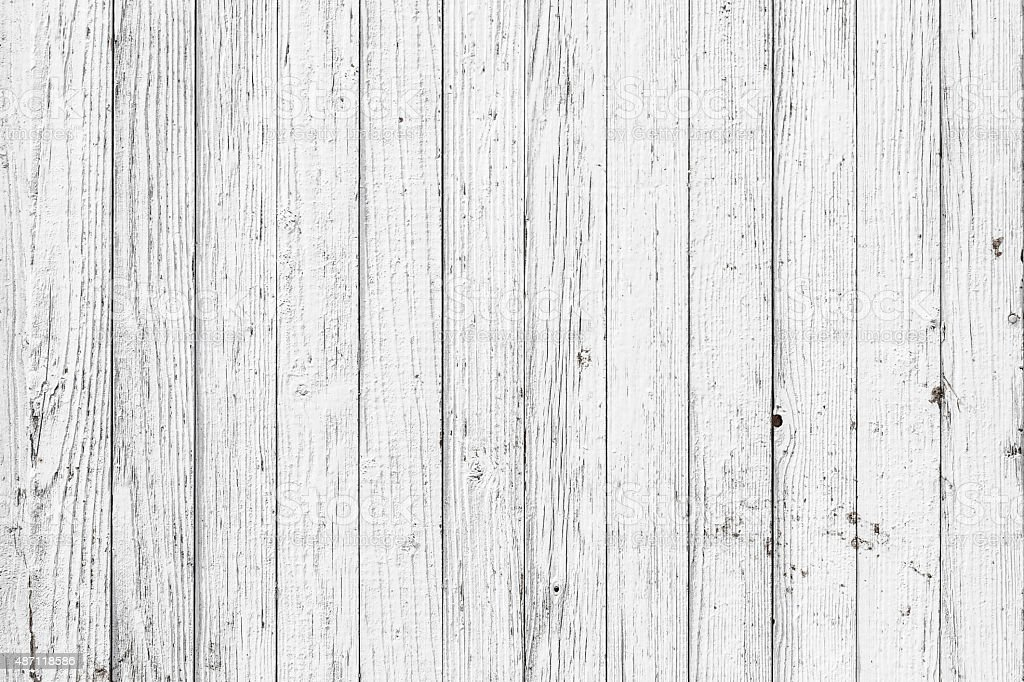 Vintage  White  Wood Wall stock photo