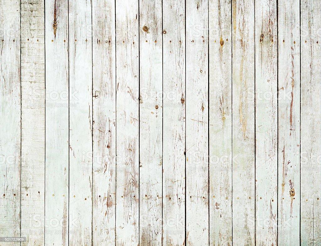 Vintage white wooden fence background stock photo