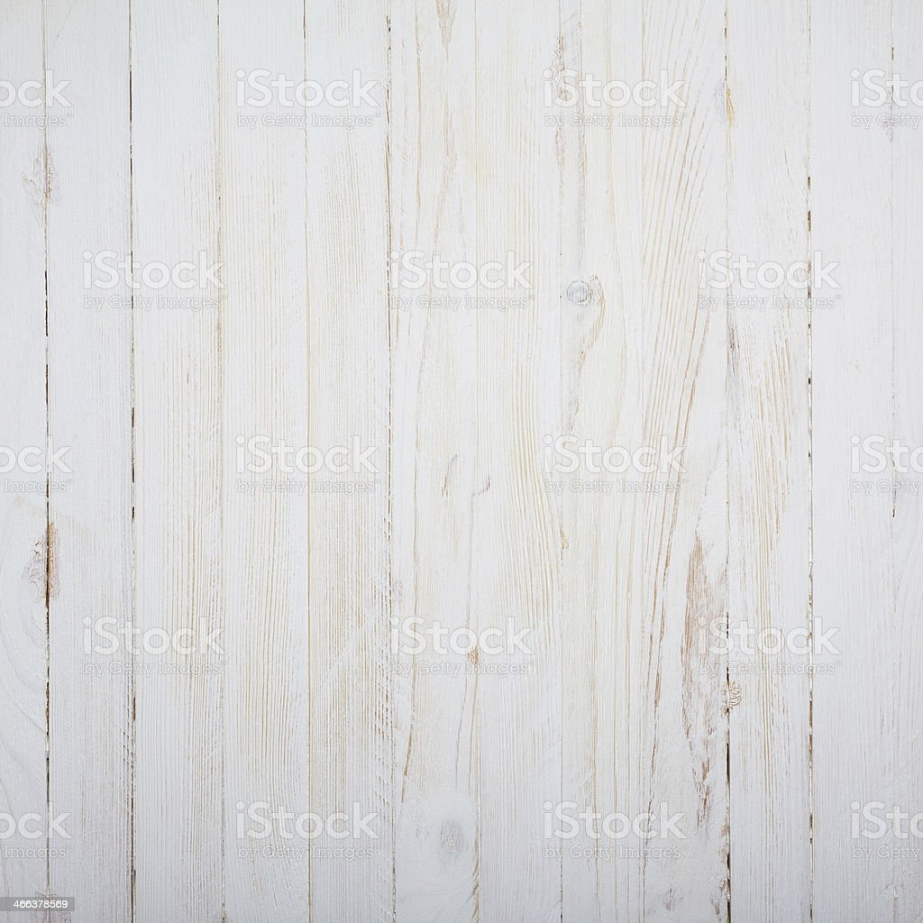 Vintage white wooden table stock photo
