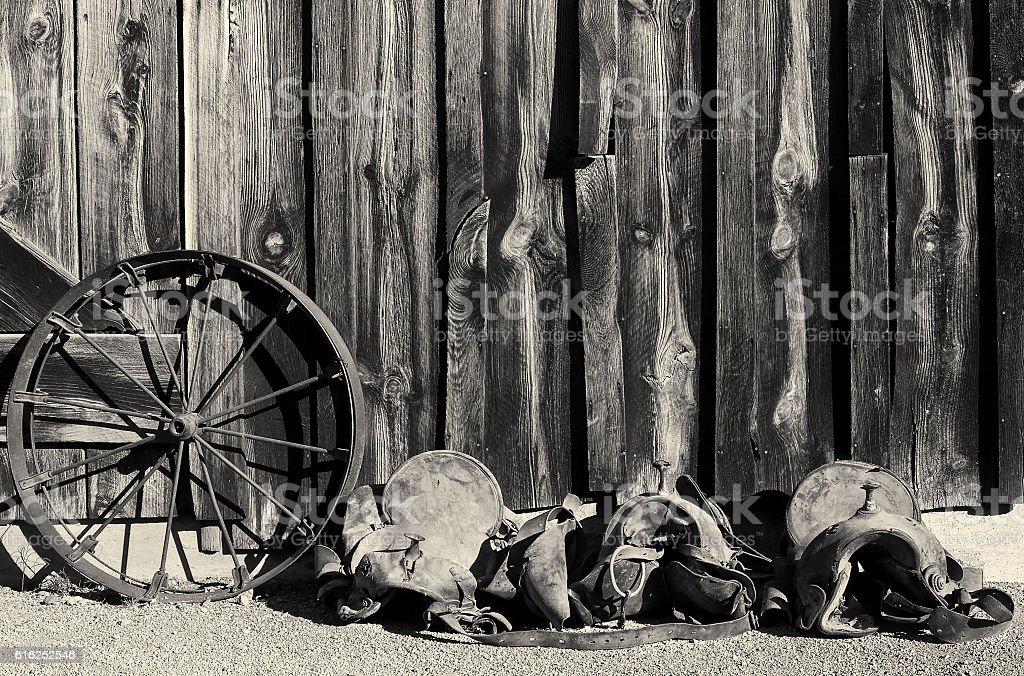 Vintage Wild West stock photo