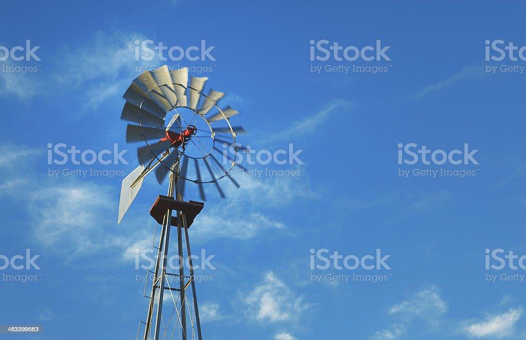 vintage windmill stock photo