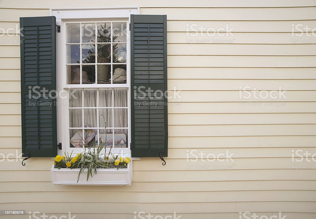 Vintage window stock photo