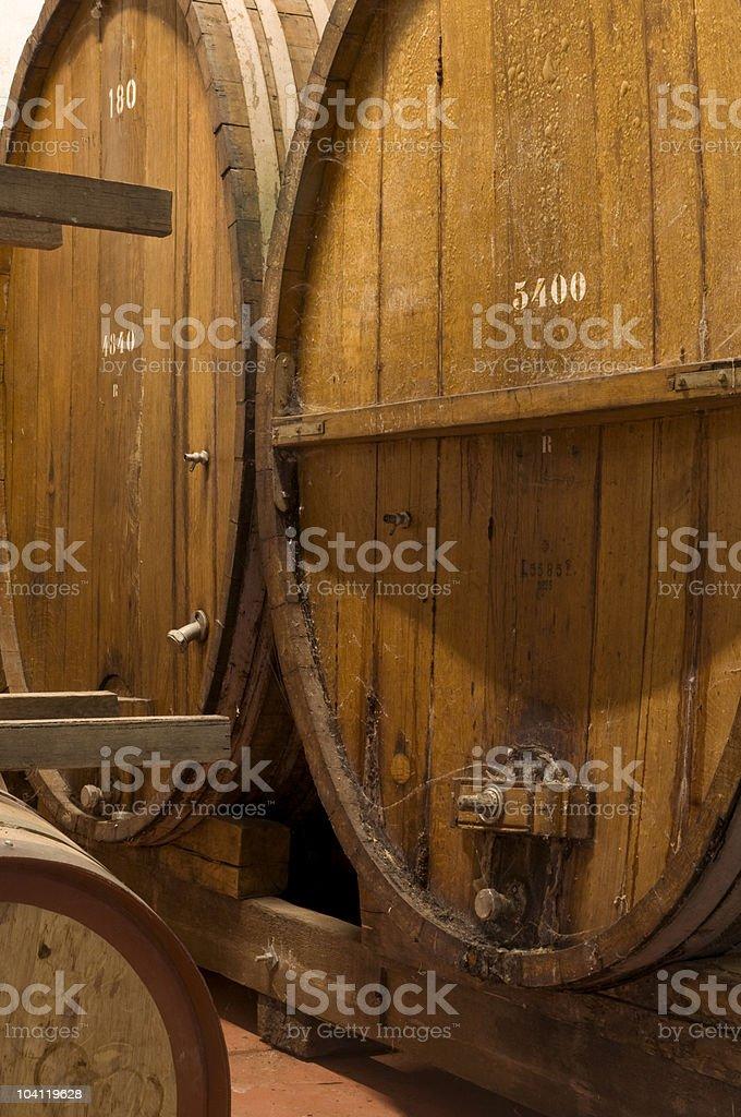 Vintage Wine Barrels royalty-free stock photo
