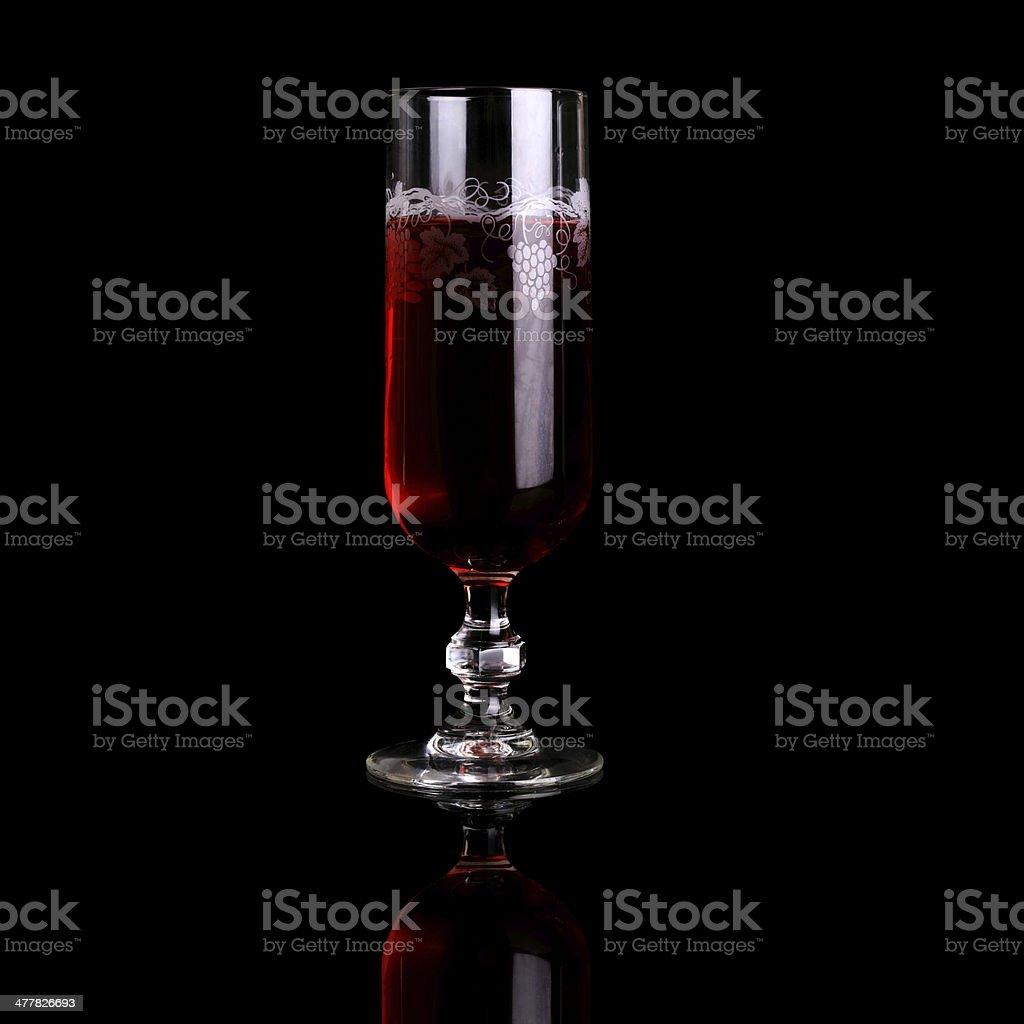 Vintage Wine Glass royalty-free stock photo