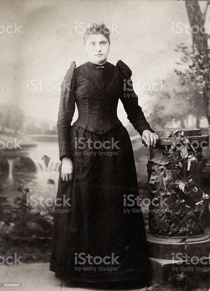 vintage woman royalty-free stock photo