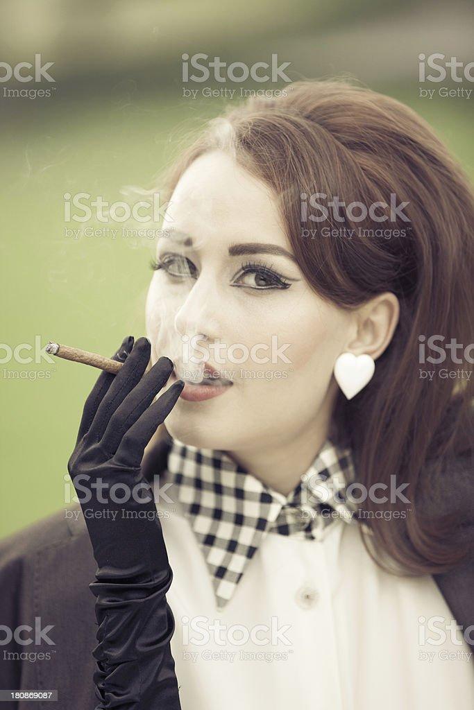 Vintage woman portrait royalty-free stock photo