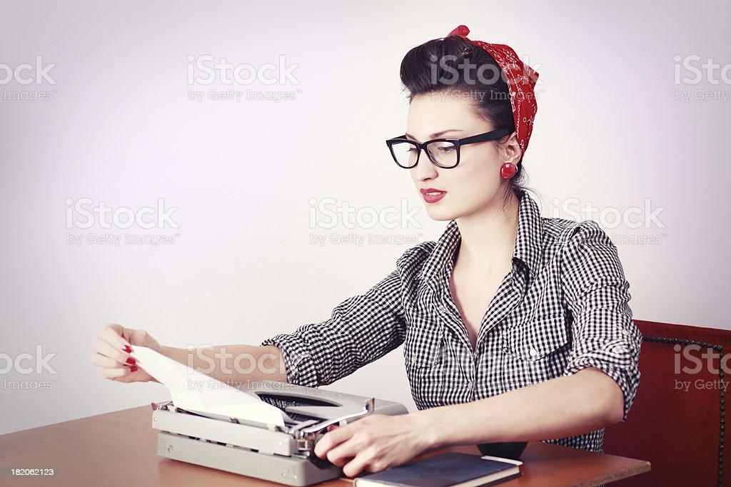 Vintage Woman Writer royalty-free stock photo