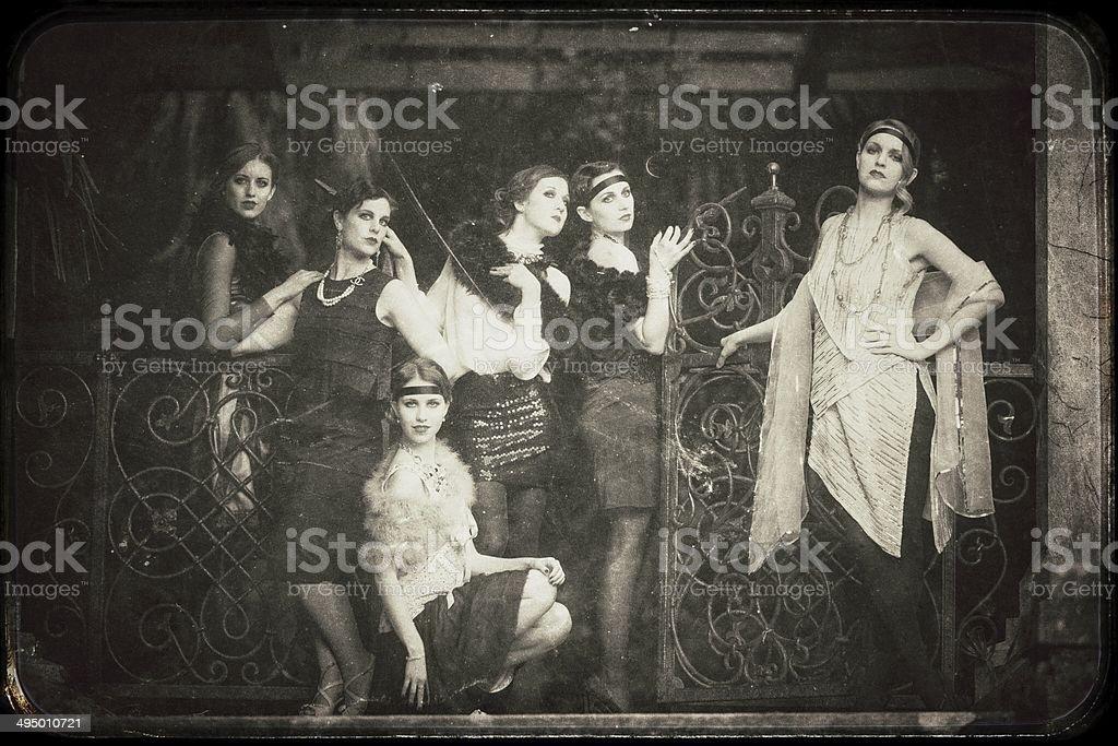 Vintage women stock photo