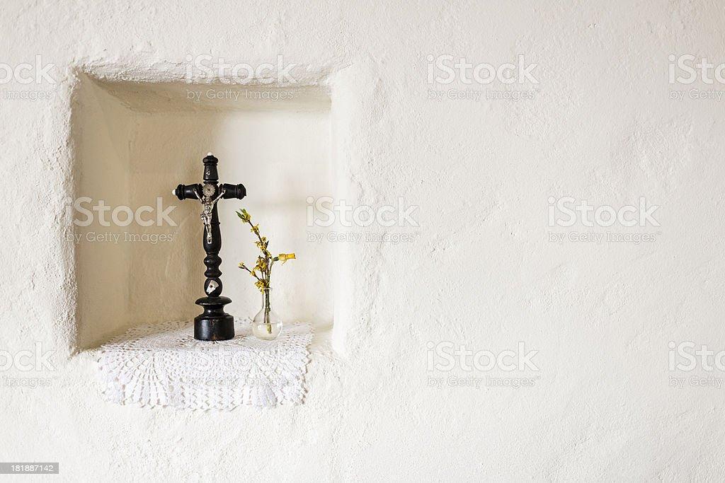Vintage wood Crucifix - Cross royalty-free stock photo