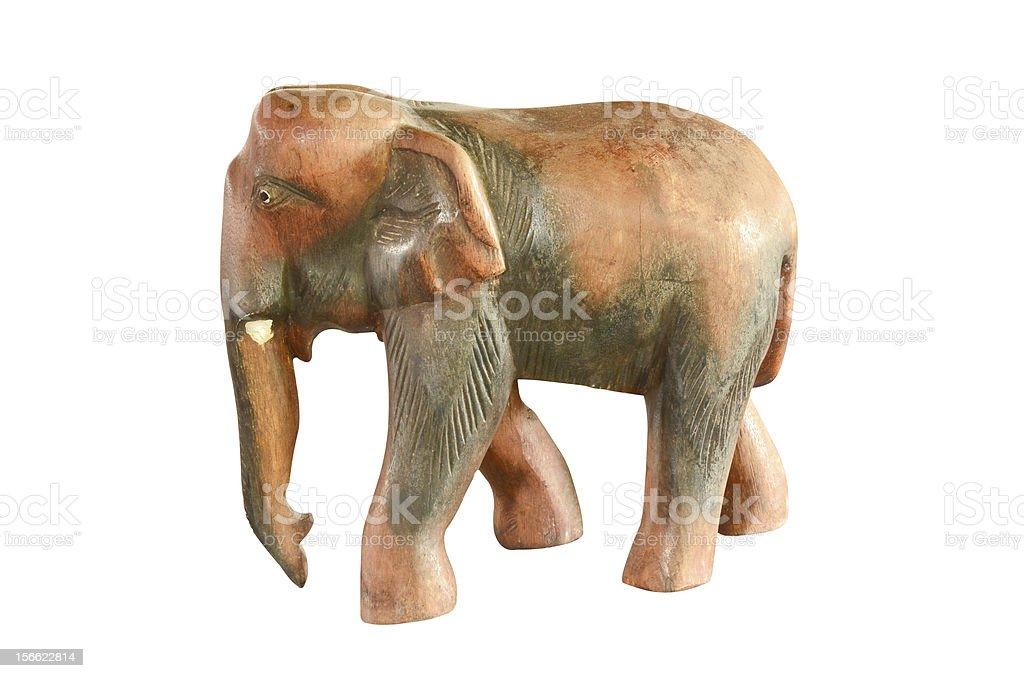 Vintage wood elephant statue royalty-free stock photo