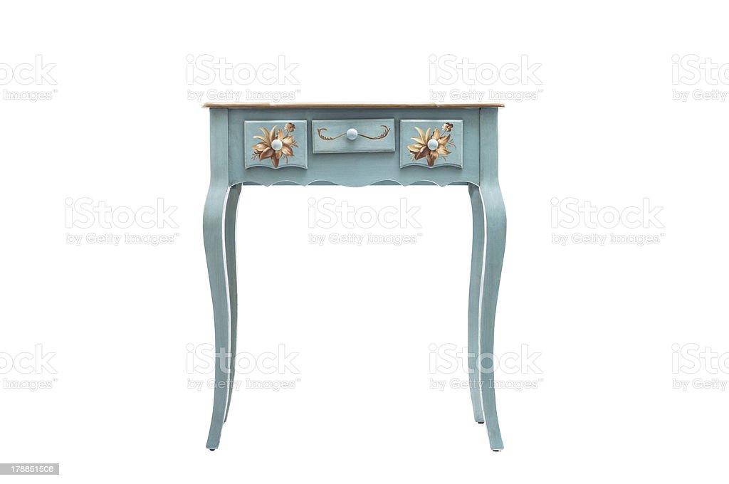 Vintage wood table stock photo