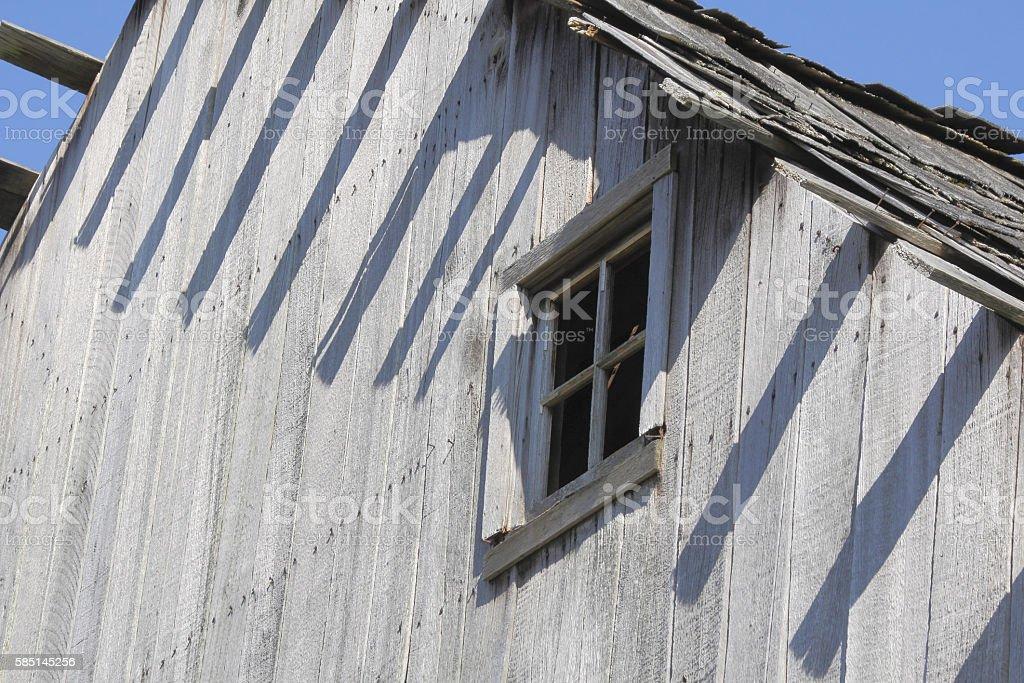 Vintage Wooden Barn Window stock photo
