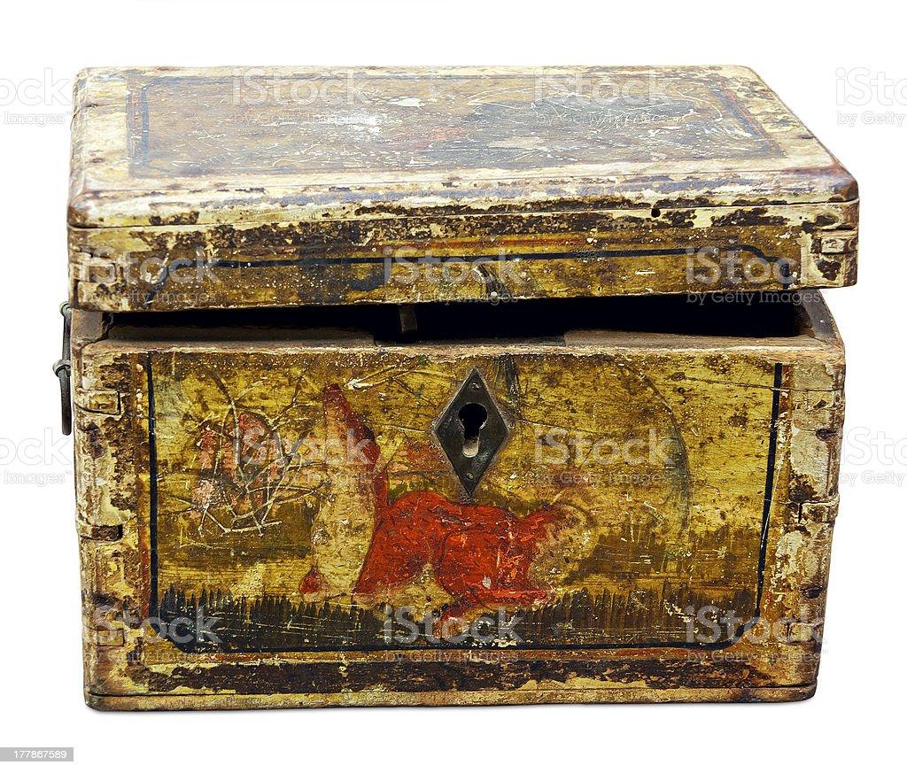 Vintage wooden box royalty-free stock photo