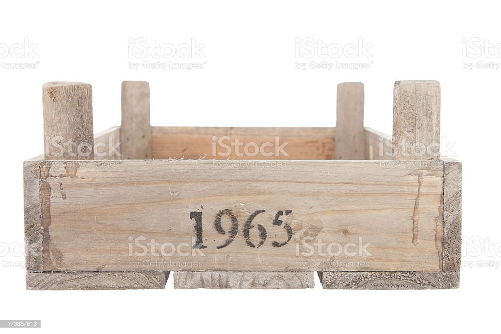 vintage wooden crate stock photo