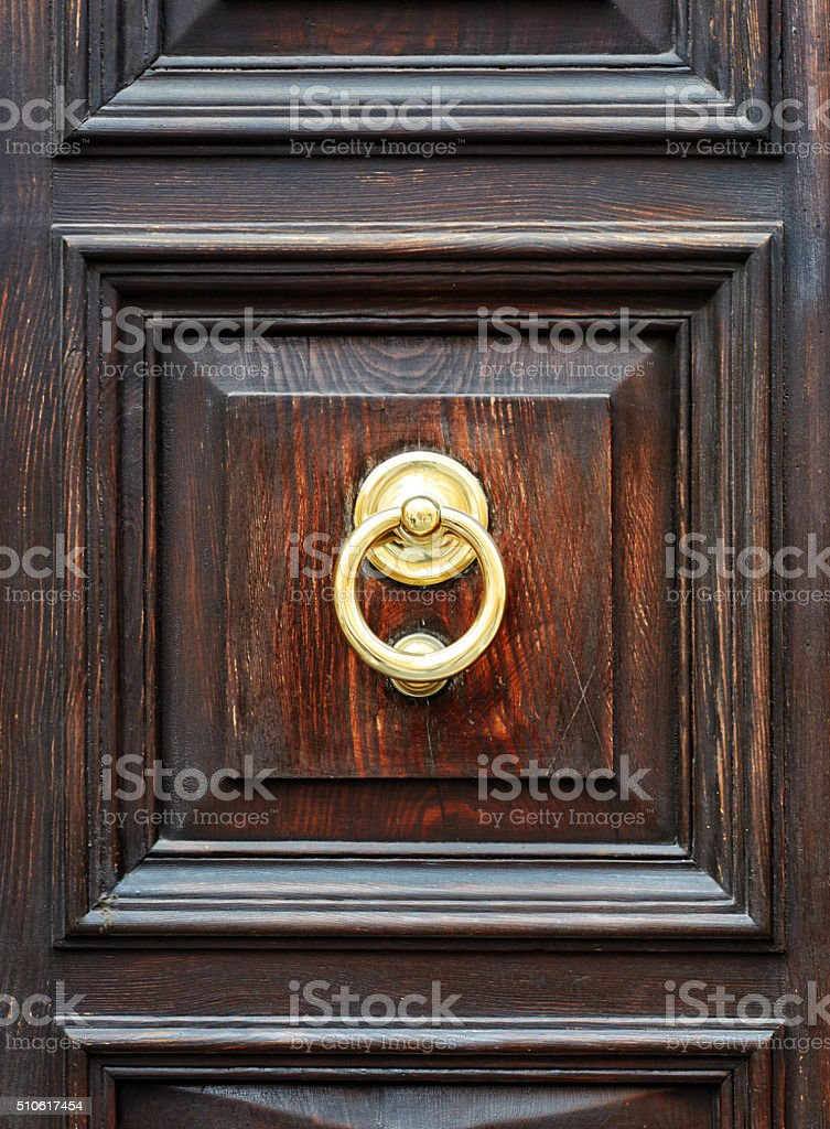 vintage wooden door stock photo