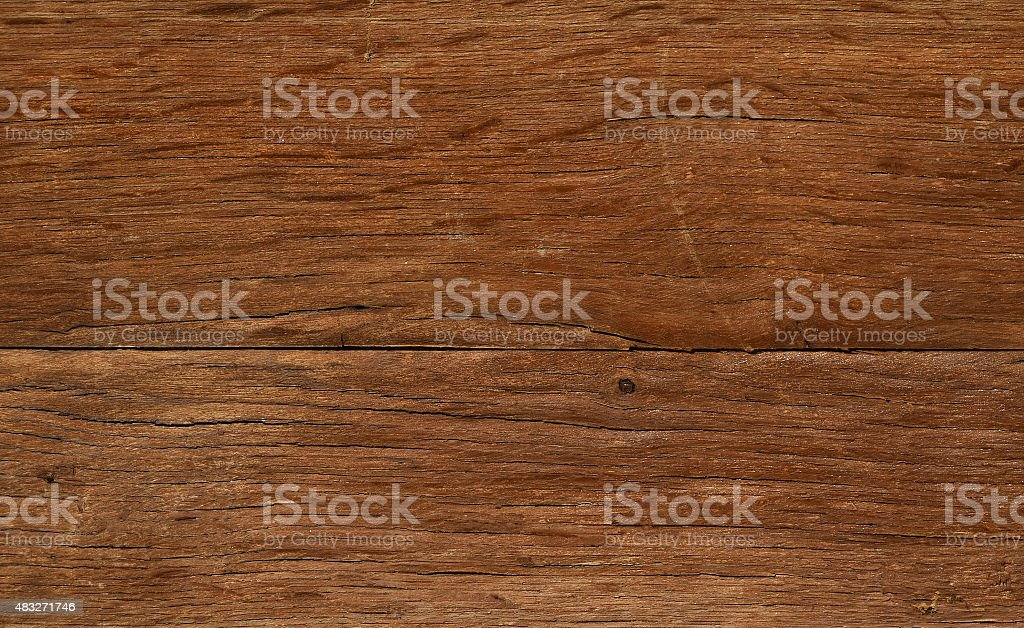 Vintage wooden faded aged board with cracks, checks and defects royalty-free stock photo
