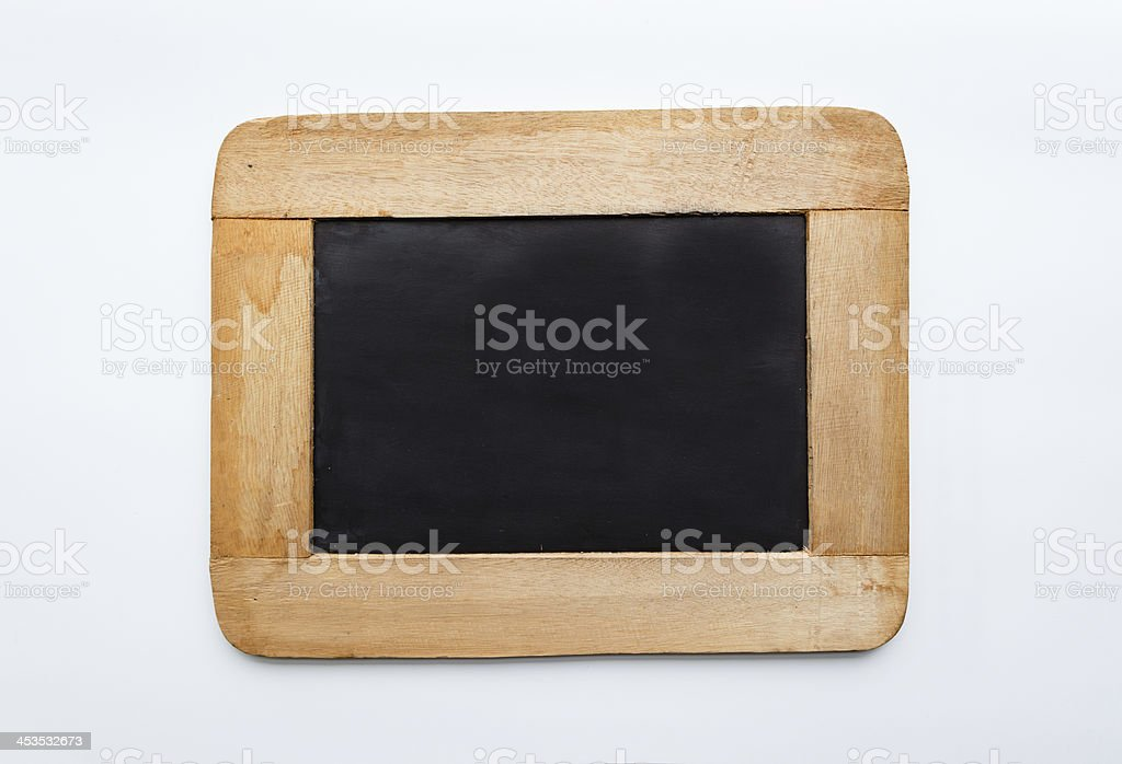 Vintage Wooden Frame Blank Slate royalty-free stock photo