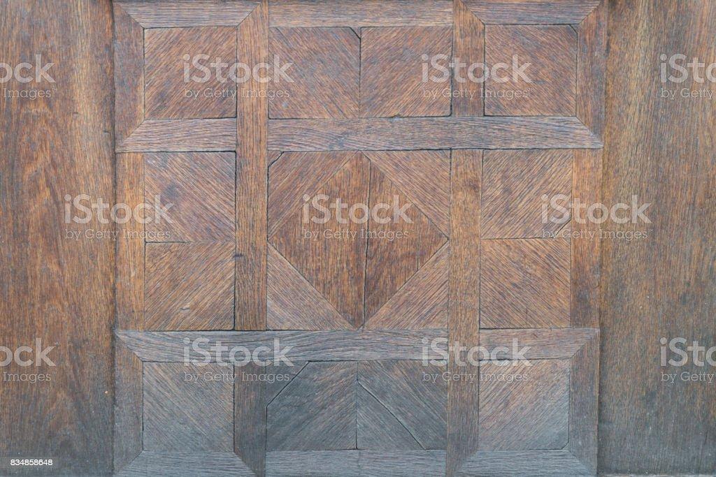 Vintage wooden front door, Regensburg, Germany stock photo