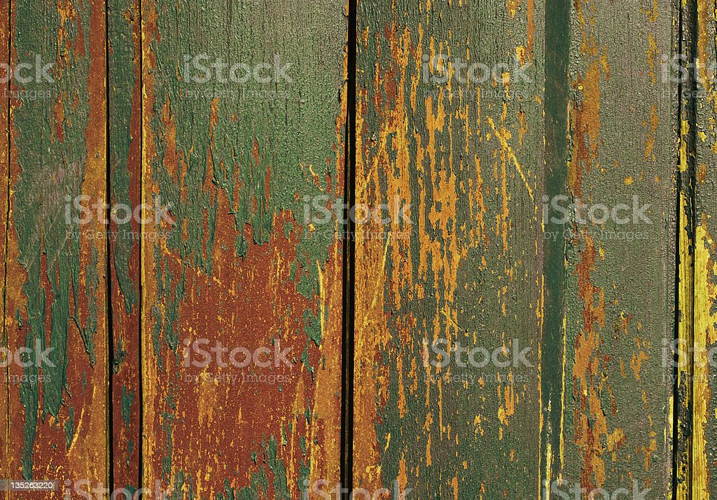 Vintage wooden old painted wall royalty-free stock photo