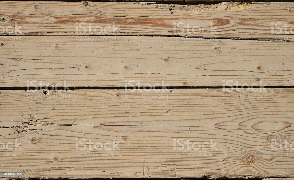 Vintage wooden panel with horizontal planks and gaps royalty-free stock photo