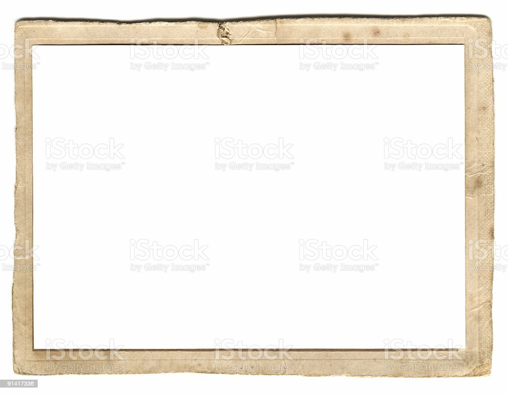 Vintage, wooden photo frame with a blank background royalty-free stock photo