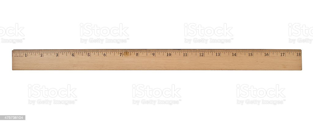 vintage wooden ruler stock photo