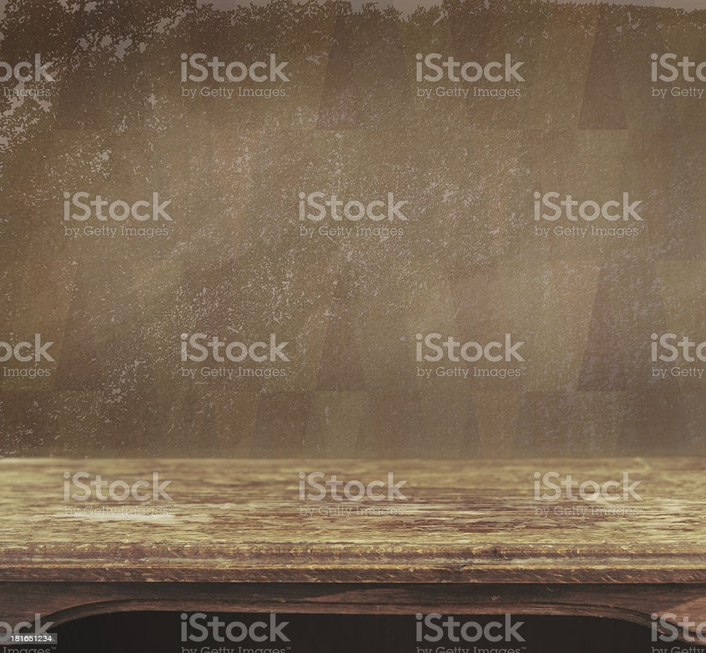 Vintage wooden table royalty-free stock photo