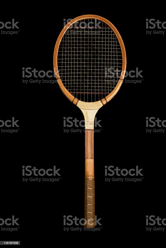 Vintage Wooden Tennis Racquet royalty-free stock photo