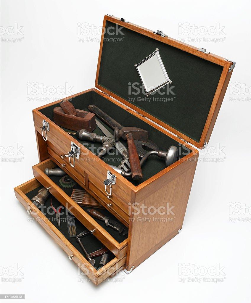 Vintage Wooden Tool Box royalty-free stock photo