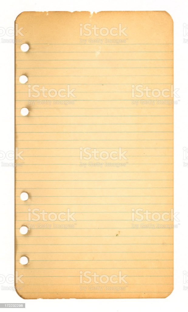 Vintage Worn Notebook Paper royalty-free stock photo