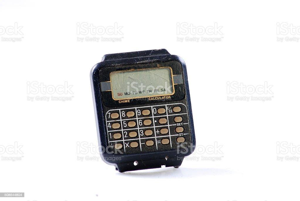 vintage wristwatch stock photo