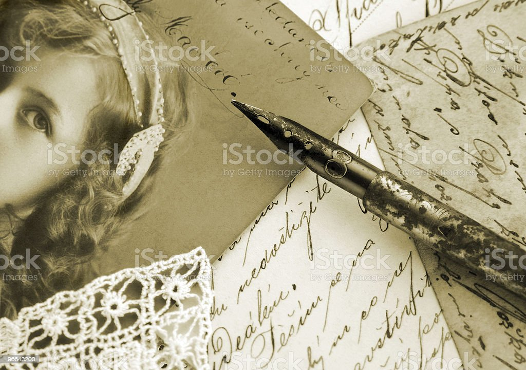 Vintage writing composition royalty-free stock photo