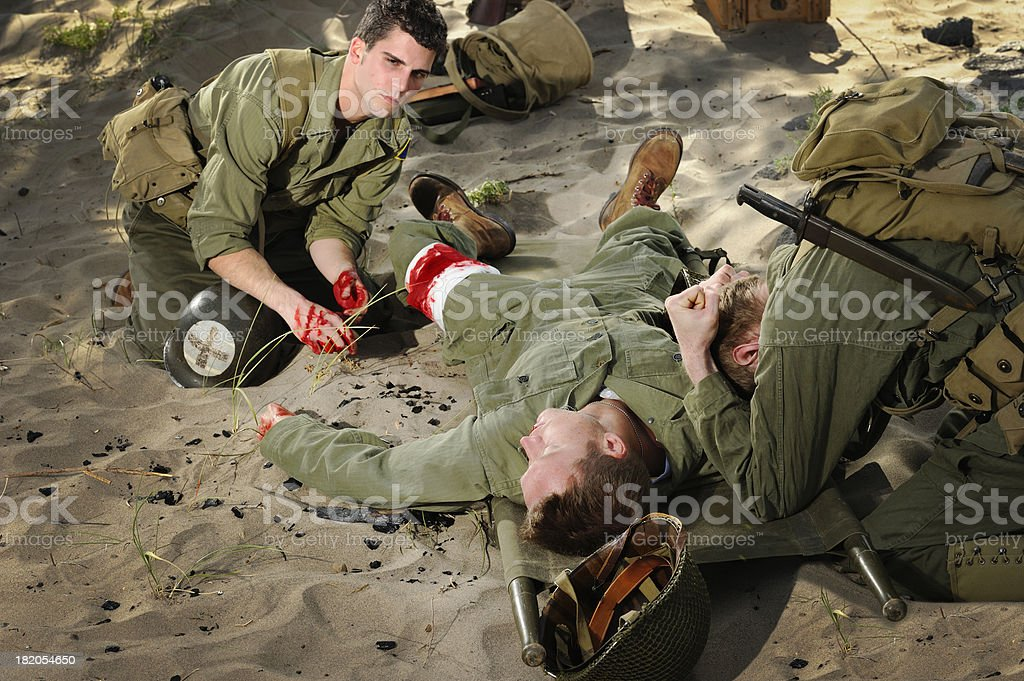 Vintage WWII - Death of A Soldier stock photo