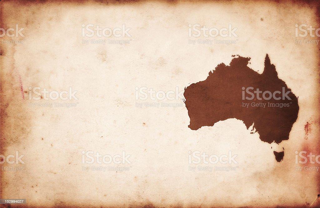 Vintage XXXL Map of Australia on Paper Texture royalty-free stock photo