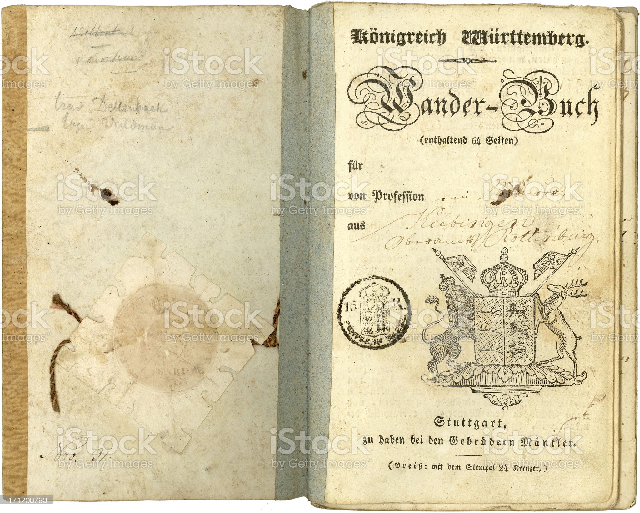 Vintage years of travel (1837) royalty-free stock photo