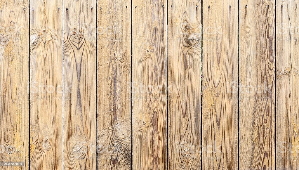 Vintage Yellow Weathered Wooden Plank Texture stock photo