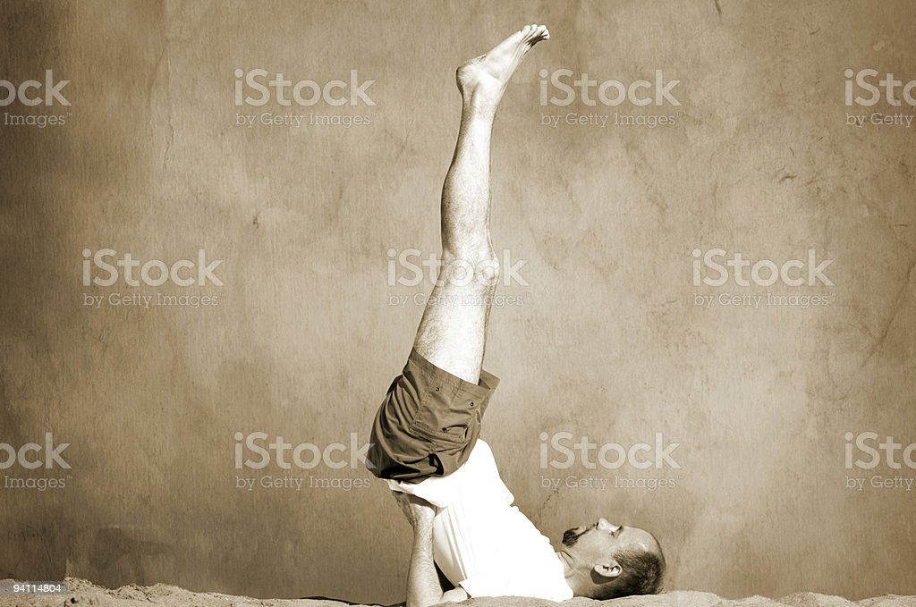 vintage yoga royalty-free stock photo