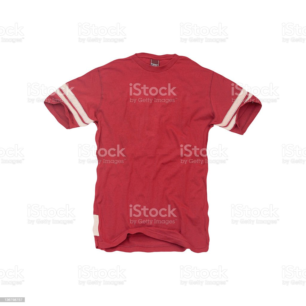 Vintage-Red Football Jersey - Blank royalty-free stock photo