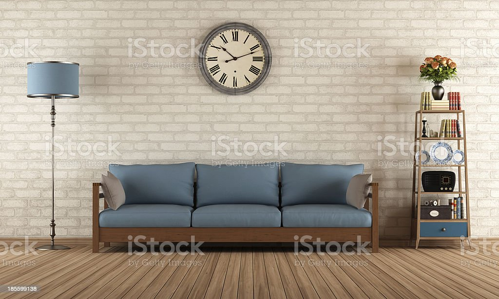 Vintange living room stock photo