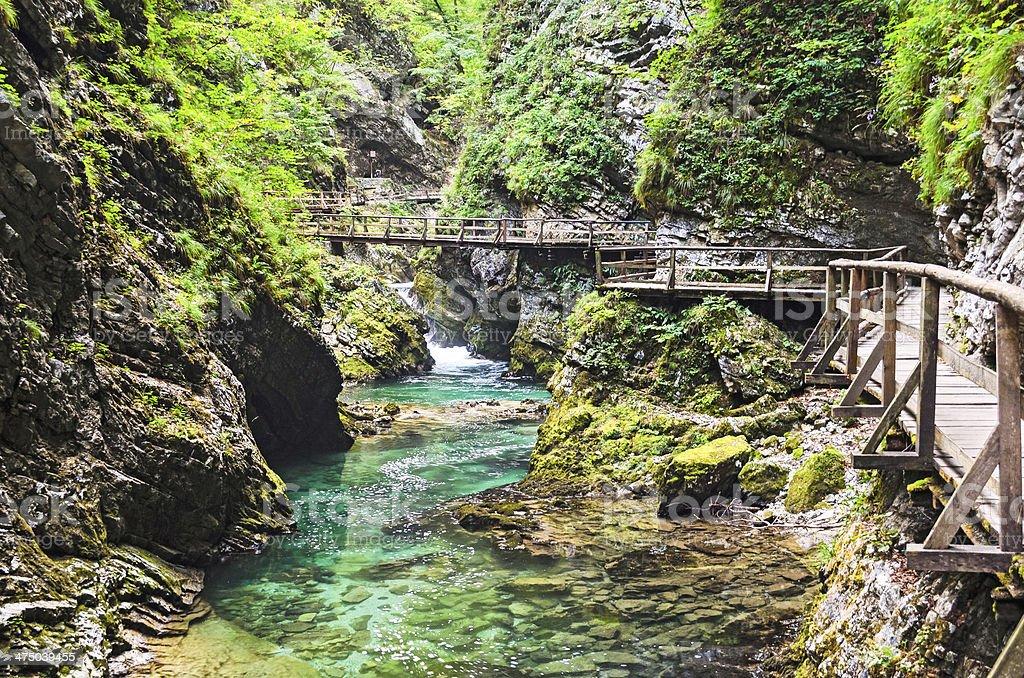 Vintgar Gorge, Slovenia royalty-free stock photo