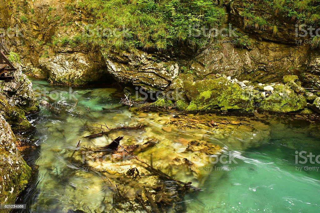 Vintgar Gorge Slovenia stock photo