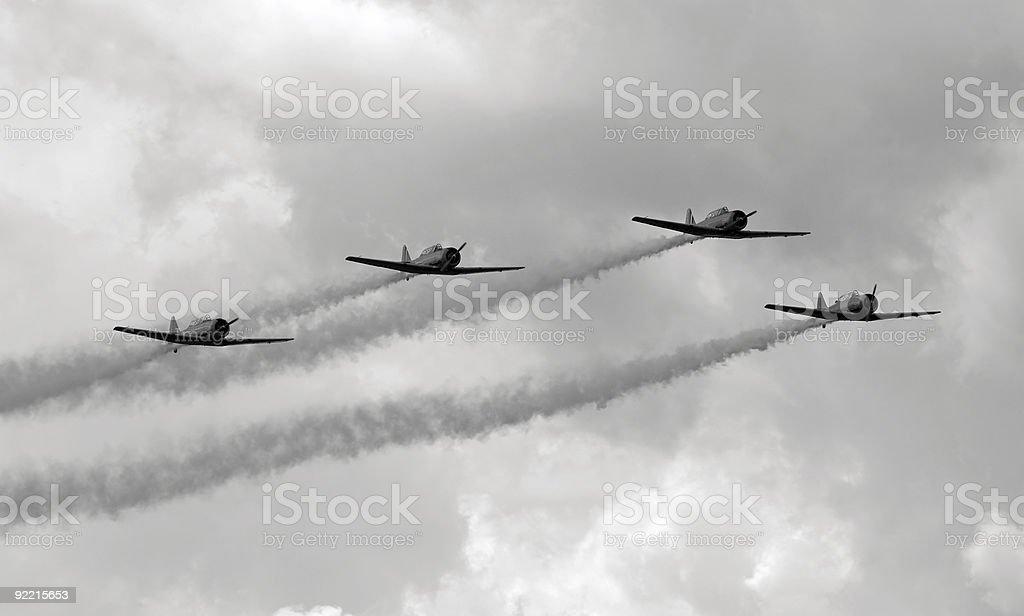 Vintge airplanes stock photo