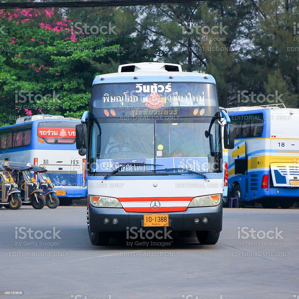 Vintour company bus stock photo