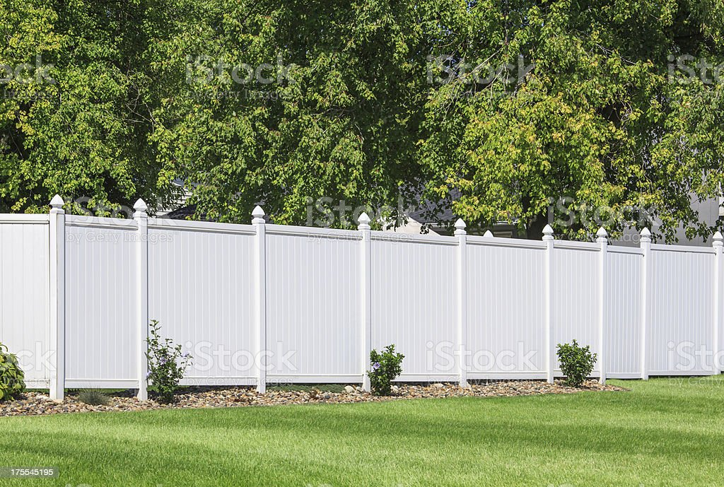 Vinyl fence stock photo