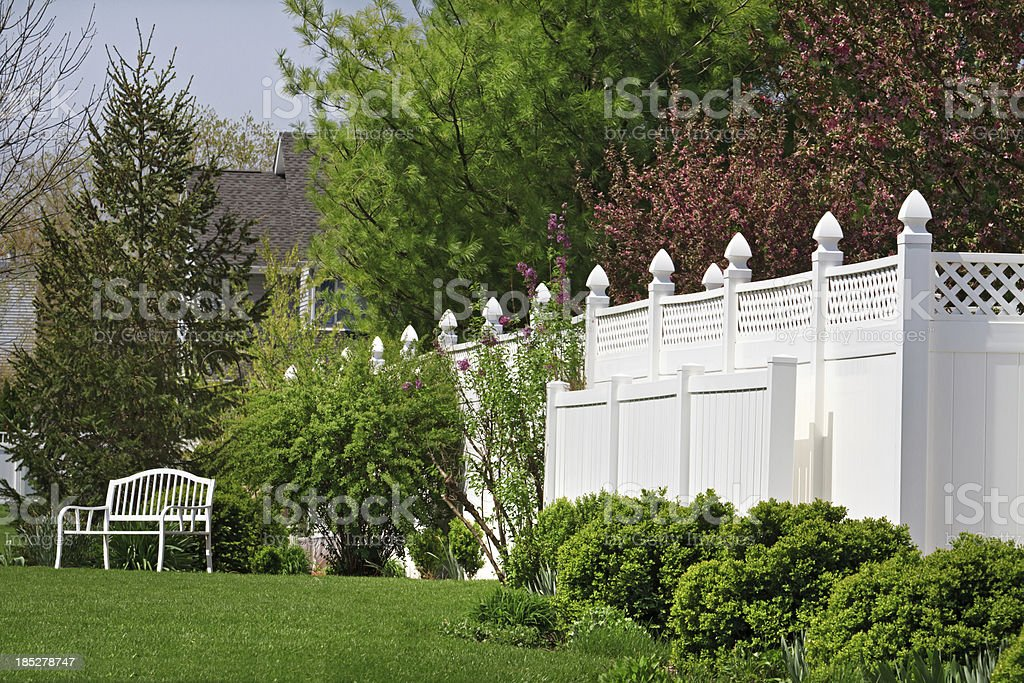 Vinyl Fence stock photo
