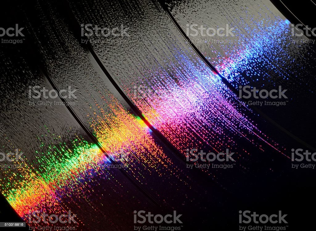 vinyl in all the colors of the rainbow stock photo